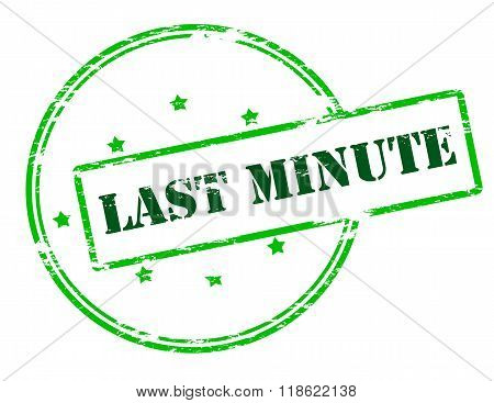 Rubber stamp with text last minute inside vector illustration