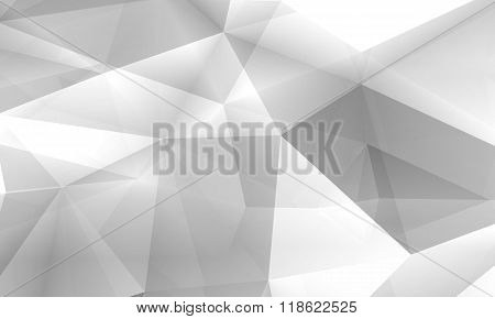 Abstract Digital 3D Chaotic Polygonal Structure