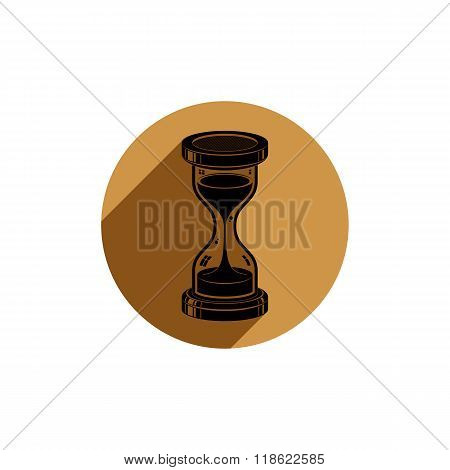 Time Without End Conceptual Vector Icon, Web Design Element. 3D Antique Hourglass Isolated On White.