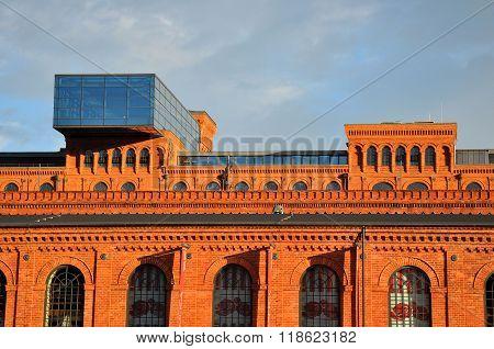 LODZ POLAND - JUNE 23: Andels Hotel in Manufaktura on June 23 2015 in Lodz Poland. It's a former spinning mill building of Izrael Poznanski factory  Poland.