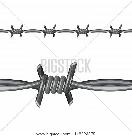 Barbed Wire vector illustration. Stock vector