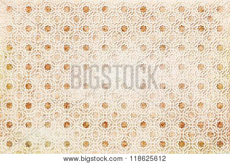 background ancient arabian grunge beige ornament. seamless pattern. pattern generated in  computer.vector illustration