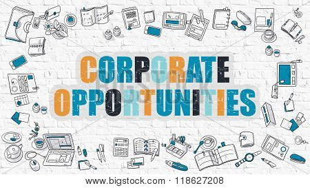 Corporate Opportunities in Multicolor. Doodle Design.