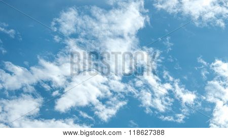 White puffy clouds