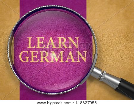 Learn German through Lens on Old Paper.