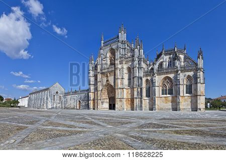 Monastery of Batalha. Masterpiece of the Gothic and Manueline architecture. Dominican Religious Order. Portugal. UNESCO World Heritage Site.