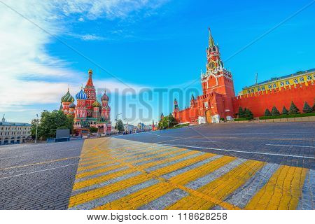 Early Morning View Of Red Square.