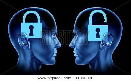 open mind key locked un locked brain mind