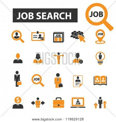 job search icons, job search logo, cv icons vector, cv flat illustration concept, cv infographics elements isolated on white background, cv logo, cv symbols set, cv, human resources, recruiting