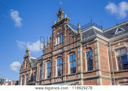 Facade Of The Historical New Orphanage In Leeuwarden
