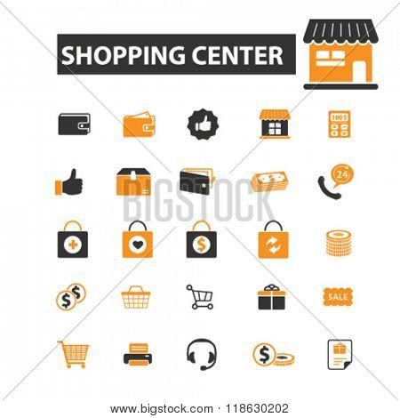 shopping center icons, shopping center logo, shopping icons vector, shopping flat illustration concept, shopping logo, shopping symbols set, store, shop, commerce, retail