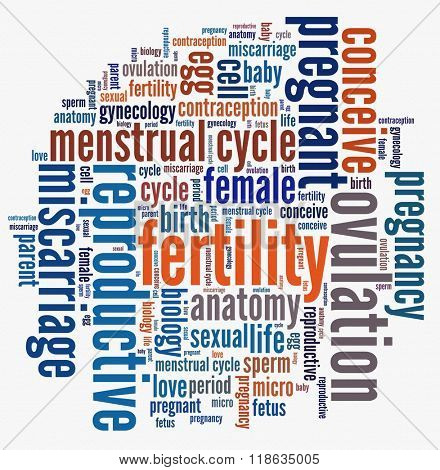 Fertility in word collage