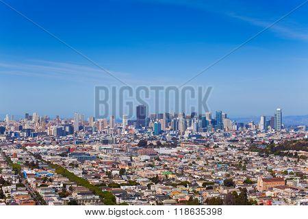 Panorama of lager San Francisco