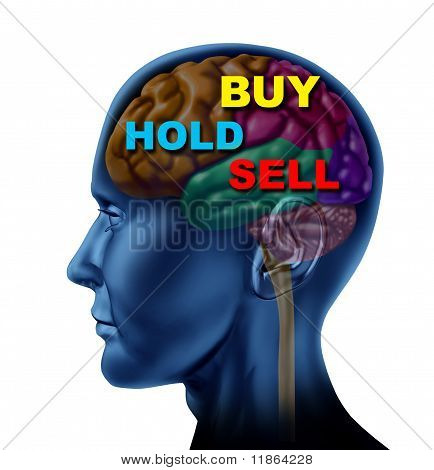brain financial decision to buy sell hold stock market investment choice guidance