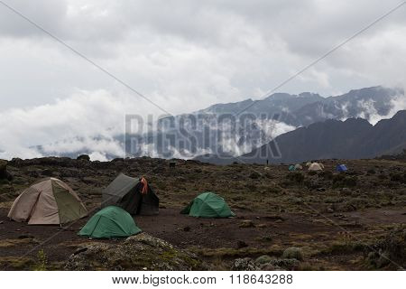 Campsite On Mt. Kilimanjaro