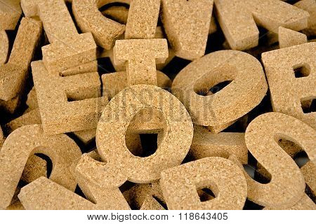 cork block letters