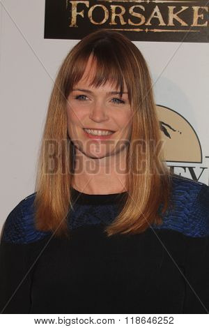 LOS ANGELES - FEB 16:  Sprague Grayden at the Forsaken Los Angeles Special Screening at the Autry Museum of the American West on February 16, 2016 in Los Angeles, CA