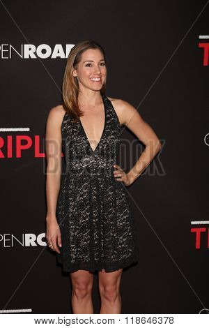 LOS ANGELES - FEB 16:  Carly Craig at the Triple 9 Premiere at the Regal 14 Theaters on February 16, 2016 in Los Angeles, CA