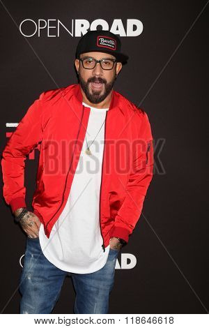 LOS ANGELES - FEB 16:  AJ McLean at the Triple 9 Premiere at the Regal 14 Theaters on February 16, 2016 in Los Angeles, CA