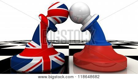 The confrontation between the Russian Federation and United Kingdom. The concept