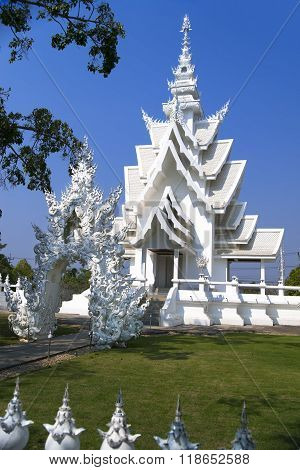 Part of White Temple, Chiang Rai Thailand