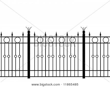 Realistic Illustration Shod Fence  Horizontal Seamless