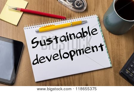 Sustainable Development - Note Pad With Text