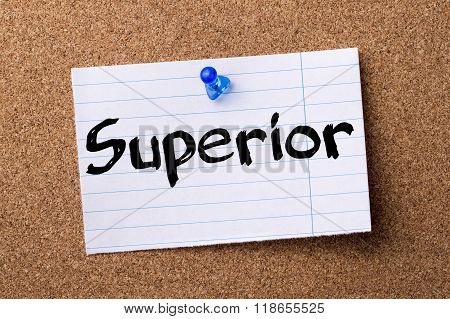 Superior - Teared Note Paper Pinned On Bulletin Board