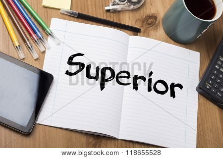 Superior - Note Pad With Text