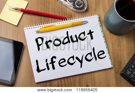 Product Lifecycle - Note Pad With Text