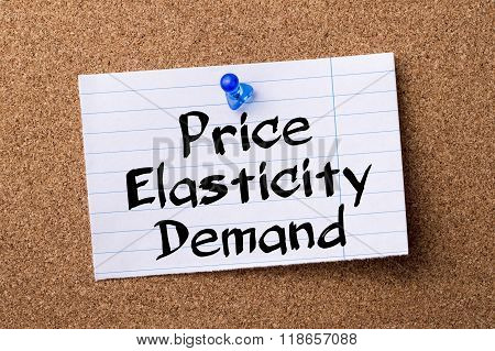 Price Elasticity Demand - Teared Note Paper Pinned On Bulletin Board