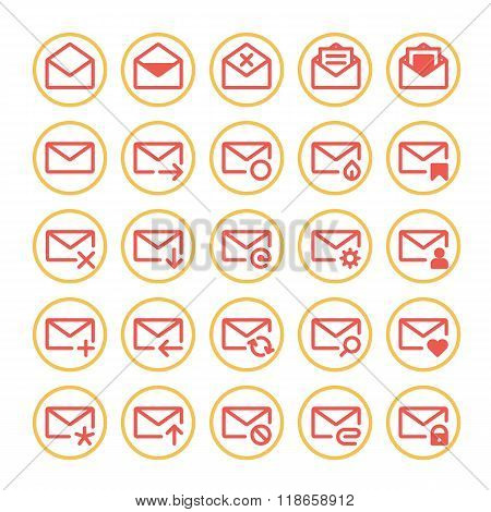 Red mail icons