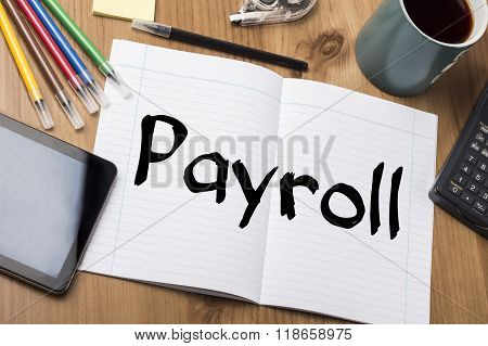 Payroll - Note Pad With Text