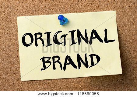 Original Brand - Adhesive Label Pinned On Bulletin Board