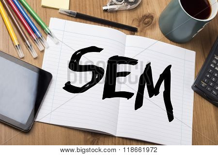 Sem - Note Pad With Text