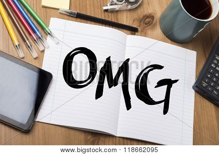 Omg - Note Pad With Text