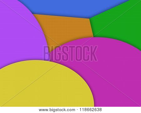 Colorful geometric shape multilayered effect.