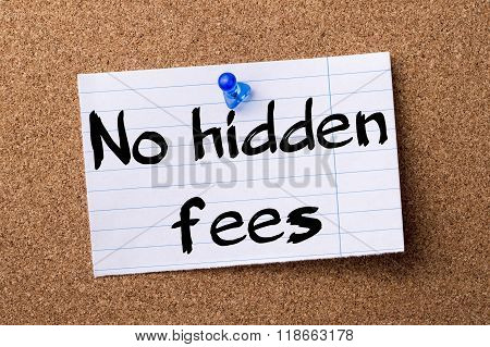 No Hidden Fees - Teared Note Paper Pinned On Bulletin Board