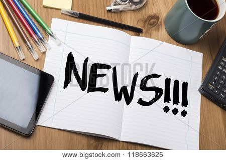 News!!! - Note Pad With Text