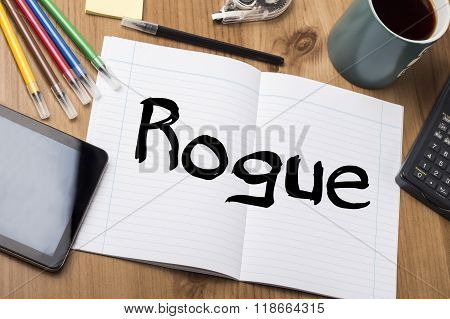 Rogue - Note Pad With Text