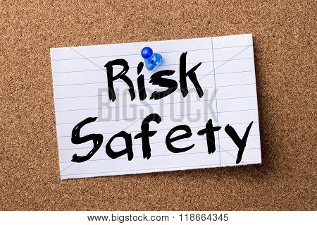 Risk Safety - Teared Note Paper Pinned On Bulletin Board