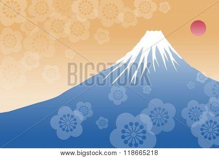 Morning Sun And Fuji Mountain
