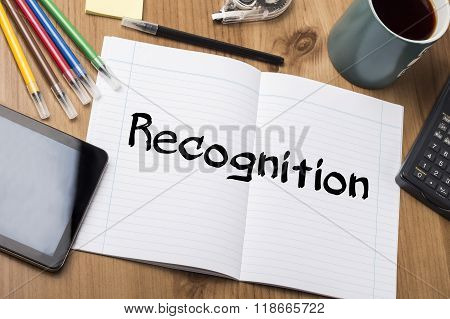 Recognition - Note Pad With Text