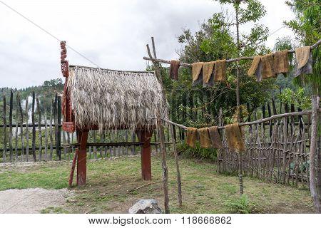 Traditional Maori Storehouse