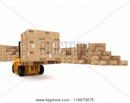 Loading stack of  boxes