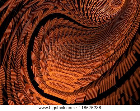 Abstract Digitally Generated Image Tunnel With Digits