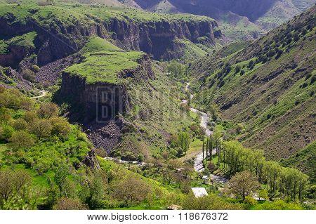 Amazing landscape from temple Garni