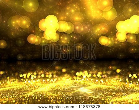 Abstract digitally generated image golden blur background