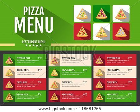 Flat Style Fast Food Pizza Menu Design