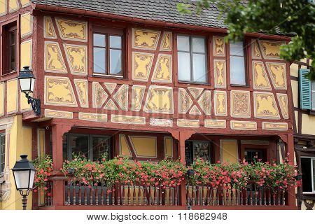 Painted Half-timbered Facade